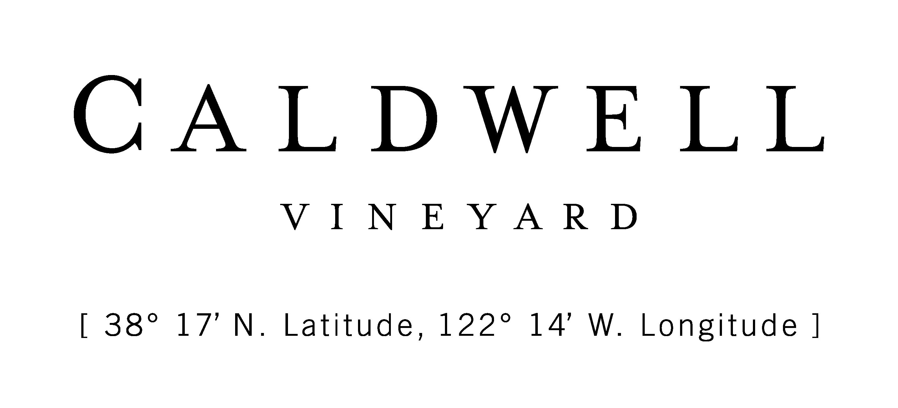 Caldwell Vineyard logo with coordiates_black